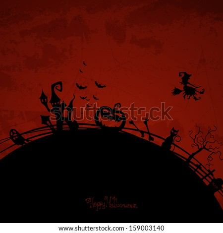 Vector Illustration of an Abstract Halloween Background
