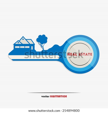 Vector illustration of an abstract real estate icon for your design - stock vector