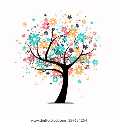 Vector Illustration of an Abstract Tree  - stock vector