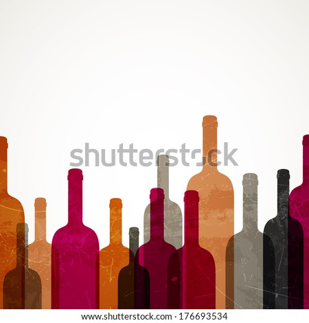 Vector Illustration of an Abstract Wine Background - stock vector