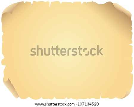 Vector illustration of an aged, old parchment paper. Perfect for website backgrounds, invitations, letters, etc. - stock vector