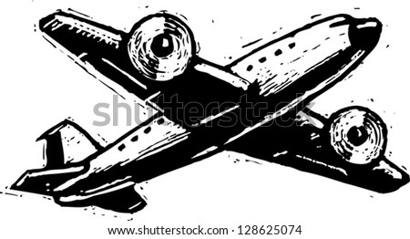 Vector illustration of an airplane