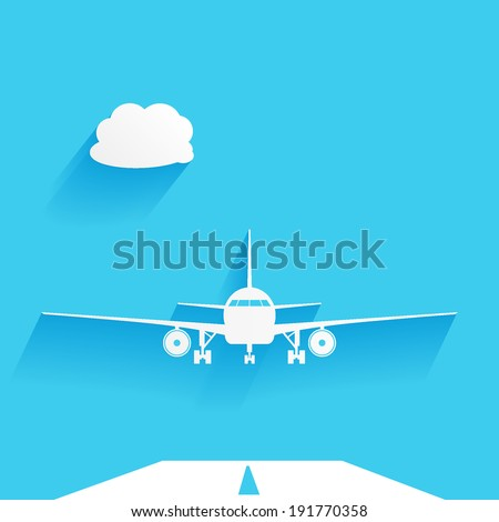 vector illustration of an airplane - stock vector