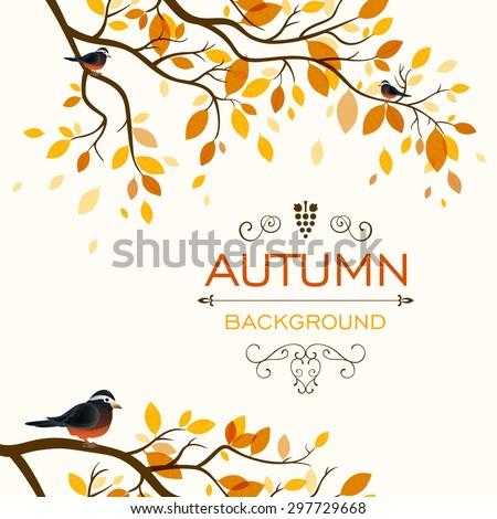 Vector Illustration of an Autumn Design - stock vector