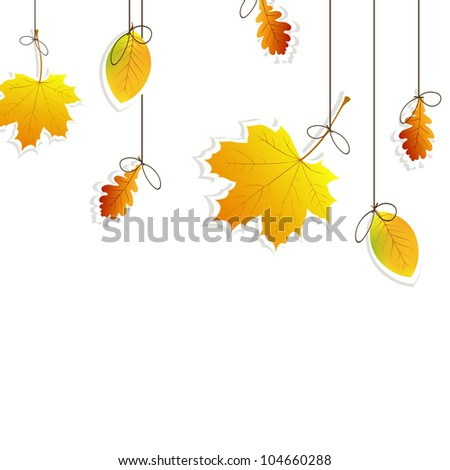 Vector illustration of an autumnal background - stock vector