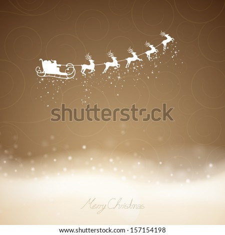 Vector Illustration of an Elegant Christmas Background - stock vector