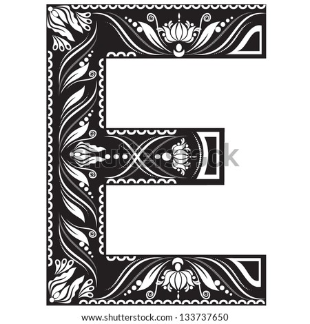 Vector illustration of an english alphabet letter in graphic style
