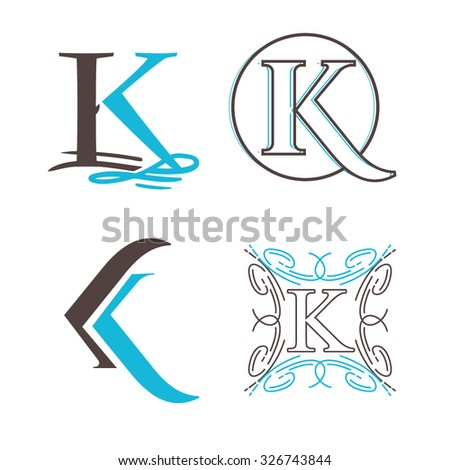 creative vector ...K Logo Design