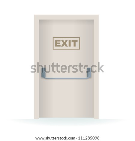 Vector Illustration of an exit door.