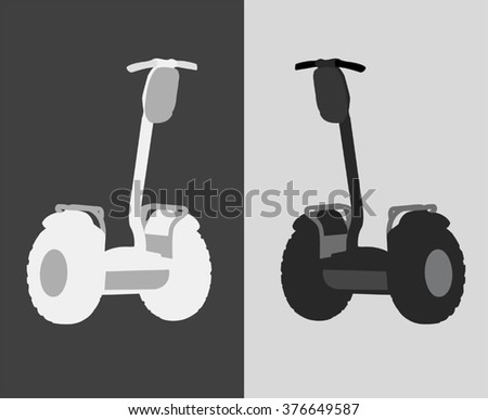 vector illustration of an individual electric scooter