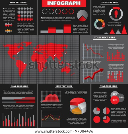 Vector illustration of an infograph - stock vector