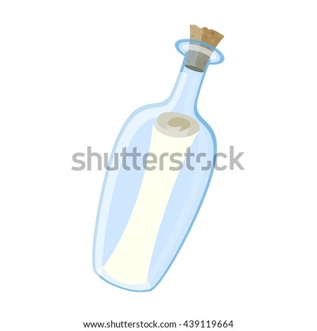 Vector illustration of an isolated Message In The Bottle