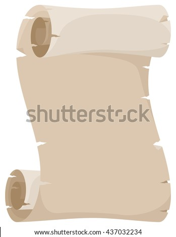vector illustration of an old parchment scroll - stock vector