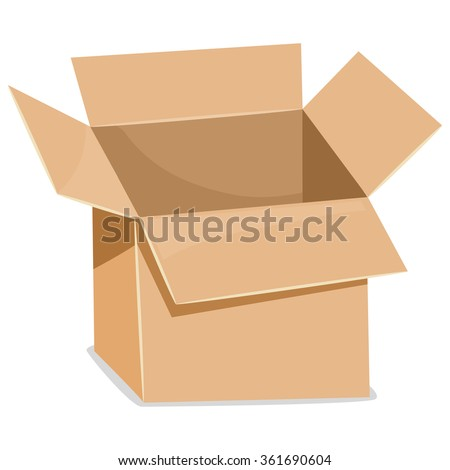 Vector Illustration of an Open Box