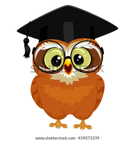 vector illustration owl wearing graduation cap stock Owl with Eyeglasses Clip Art Hipster Owl with Glasses