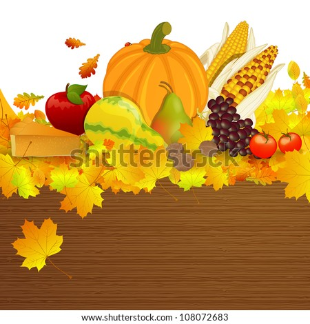 Vector Illustration of an Thanksgiving Background