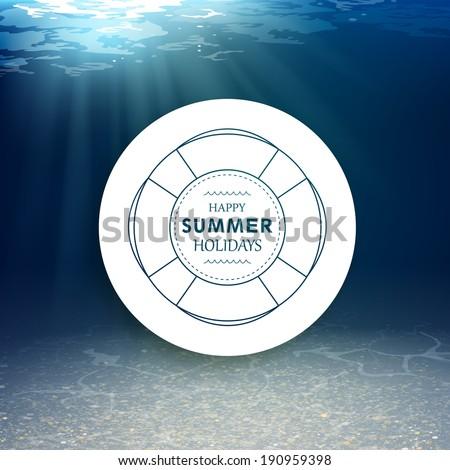 Vector Illustration of an Underwater Background - stock vector