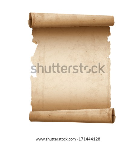 Vector illustration of ancient scroll paper  - stock vector