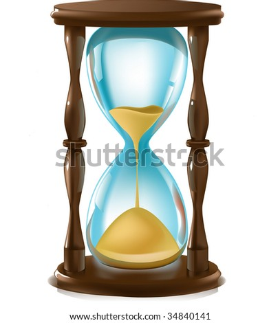 Vector illustration of antique hourglass