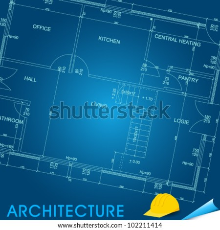 Vector illustration of architectural plans of buildings - stock vector