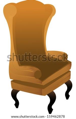 Vector illustration of armchair - stock vector