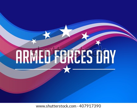 Vector illustration of Armed forces day. - stock vector