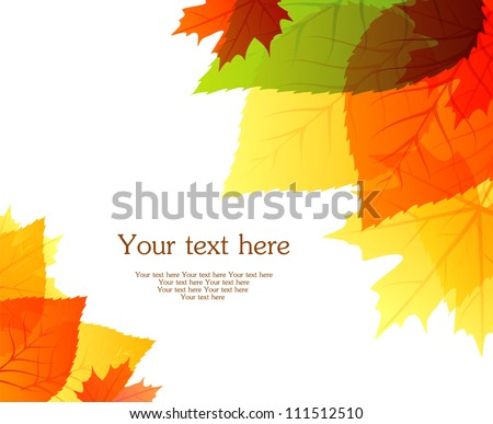 Vector illustration of Autumn leafs back - stock vector