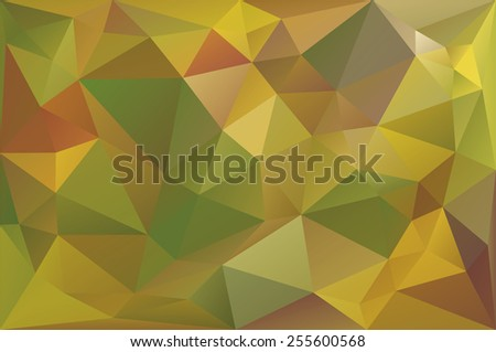 Vector Illustration of Autumn Low Poly Background - stock vector