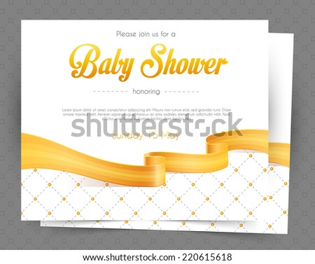 Vector illustration of Baby shower card template - stock vector