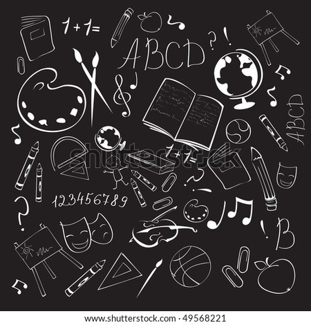 Vector Illustration of Back to school abstract background - stock vector
