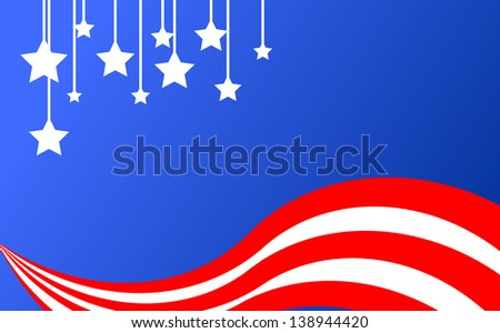 Vector illustration of background with stars and strips