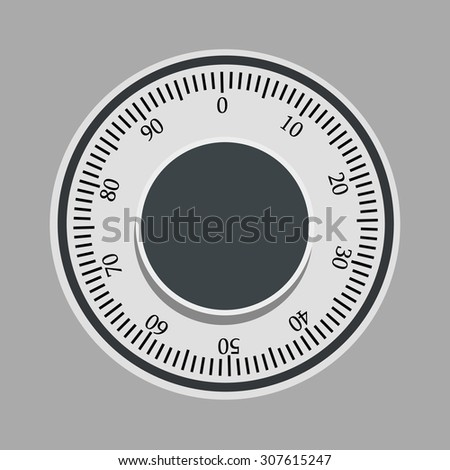 Vector illustration of bank safe lock. Money safe icon. Steel safe. Security concept with metal safe icon