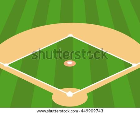 vector illustration baseball field background stock vector 449909743 rh shutterstock com baseball field vector baseball diamond vector free