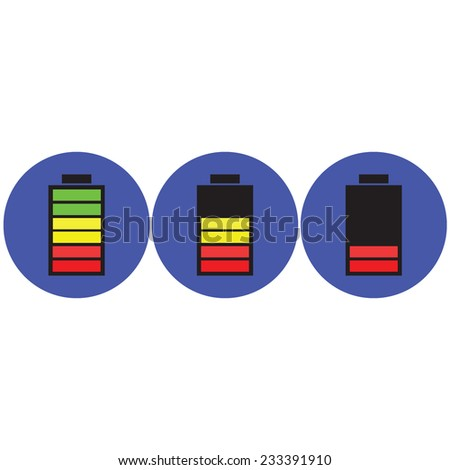 vector illustration of battery icon - stock vector