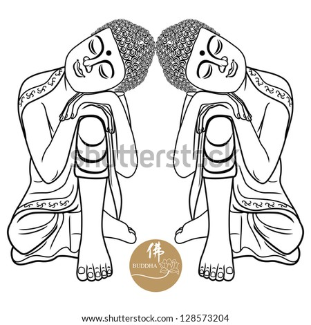 Vector illustration of beautiful buddha design. - stock vector