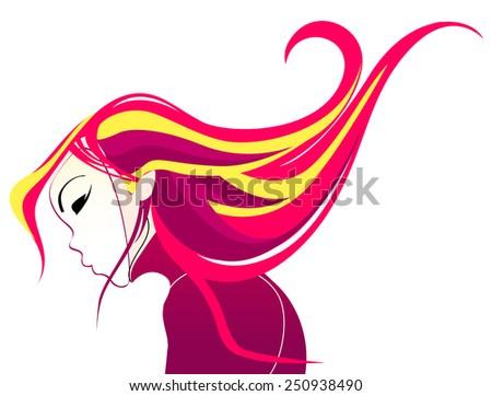 Vector illustration of beautiful carnival girl - stock vector