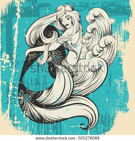Vintage Mermaid Stock Images Royalty Free Images