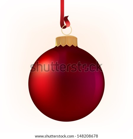 Vector illustration of beautiful red christmas ball - stock vector