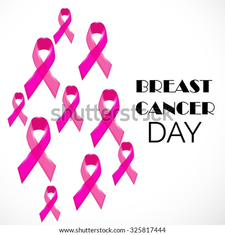 Vector illustration of beautiful ribbon for Breast Cancer Day.