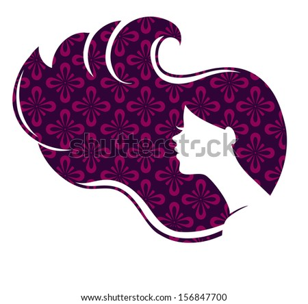 Vector illustration of Beautiful woman - stock vector