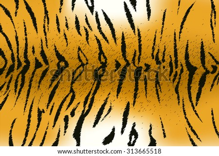 Vector illustration of bengal tiger stripe pattern - stock vector