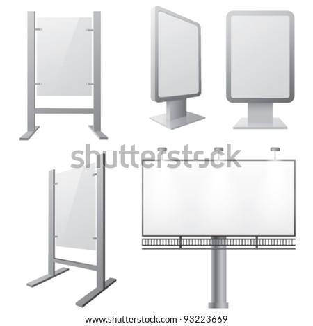 Vector illustration of billboards - stock vector