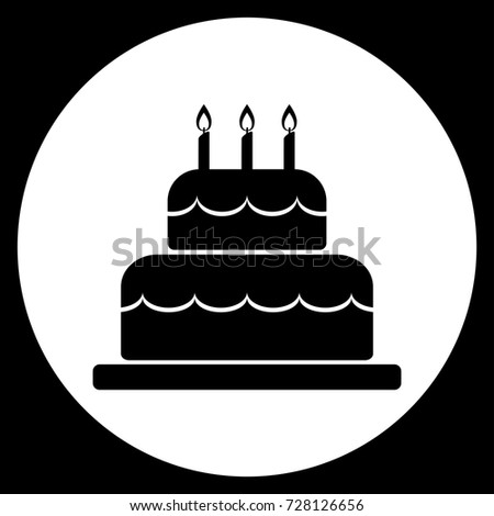 Vector Illustration Birthday Cake Icon Black Stock Photo Photo