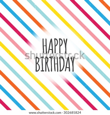Vector illustration of birthday color lines design element. - stock vector