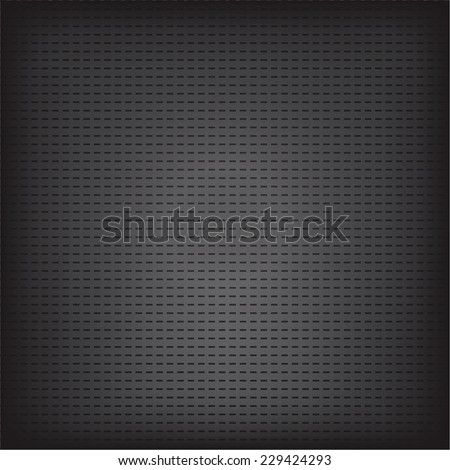 Vector illustration of black metallic grid texture background