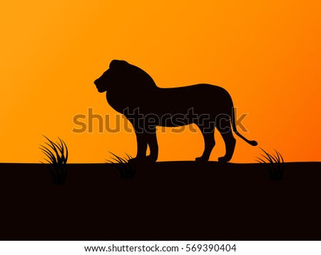 Lion Silhouette Stock Images, Royalty-Free Images ...