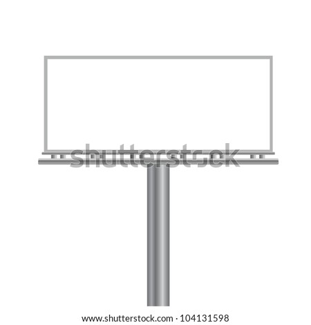 vector illustration of  blank billboard - stock vector