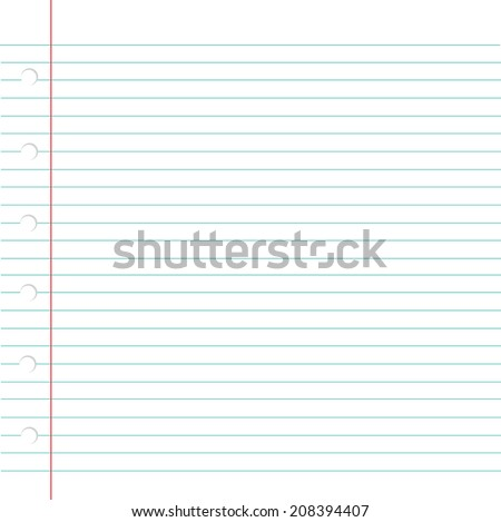 Vector illustration of blank book sheet with lines