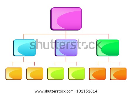 vector illustration of blank hierarchy diamgram - stock vector