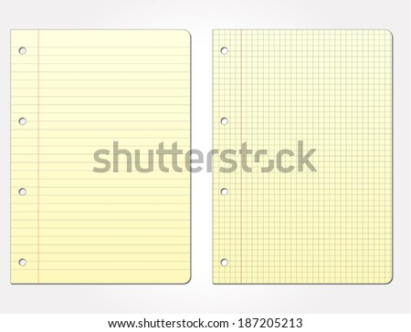Vector illustration of blank paper for add text